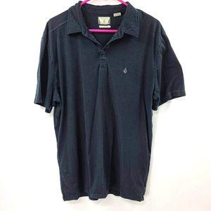 Men's volcom black polo. Size xl